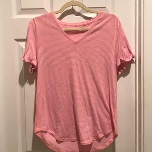 Pink stripe lululemon top